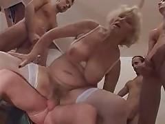 Old Granny NORMA gang banged