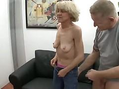 Skinny Granny Gets a Facial