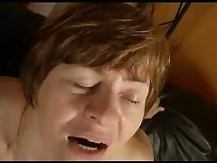 Lovely Nippled Granny Sucks and Fucks
