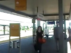 Crazy german fucks a girl in public places