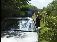 Granny Car Tailgate Fuck