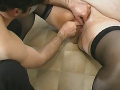 French BBW fisted and squirts