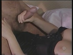 Classy French Lady In Basque and Stockings Likes Anal