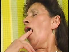 Granny fucks the pool cleaner