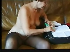 Stunning Septuagenarian Susanne Strips and Sizzles