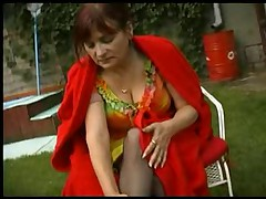 Granny Outdoor Fuck in Stockings