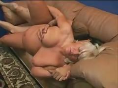 Filming his blonde swingerwife get fucked