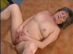 Mature Granny Anal Fucked With Facial Load In Garage