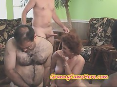 SLUTTY Cum Swilling GRANNIES within reach a SWINGERS Line