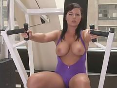 Big boobs aerobics