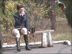Voyeur 9, By the road, no panties (MrNo)