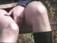 Voyeur 9, By the road, no panties (MrNo)