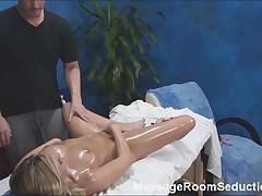 Hot Blonde Seduced by Massage Therapist