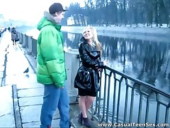 Latex coat is a sign - she wants to fuck hard!