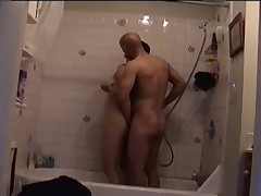 My boyfriend and I in the shower!