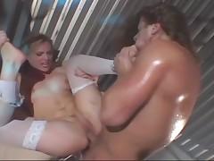 Nurse deepthroat and toe sucking