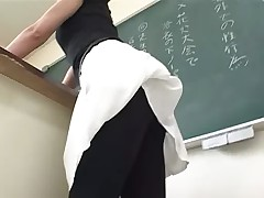 A Sexy Teacher with Panty Stokings