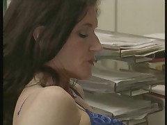 Mature fucked in office