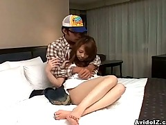 Lovely Japanese slut gets pussy in hotel