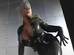 Beautiful latex covered tits and faces music video