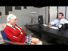 Britney Amber in the principals office