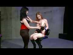 Lesbian Latex Stocking Electro Play