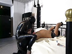 German amature couple in rubber and latex...BMW