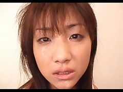 Itsuka Naughty Asian babe sucks cock and gets a facial