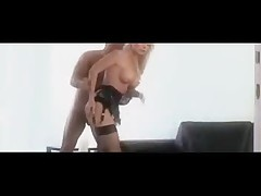 Hot Blonde Secretary Stocking Office Sex SM65