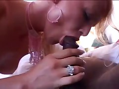 White girl exploded by 3 big black cock