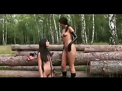 Outdoor Lesbian Rubber Romp