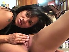 Two horny latinas getting fucked by their customers