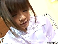 Oversexed Japanese nurse well-known a hot handjob