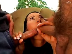 Sandra Romain take 3 cum in mouth and swallow