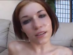 Allie Sinn cum covered and swallow