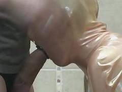 (ballin)-bag in gag blowjob fetish