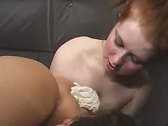 Humiliated slave lick cum