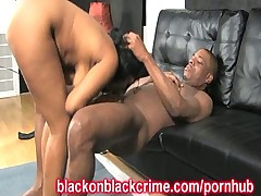 Pummeling Her Black Pussy With A Big Dick