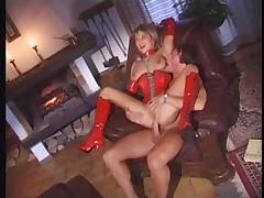 Meridian fetish red latex