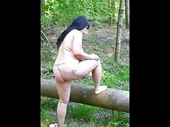 BBW fat ass outdoor