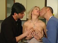 Italian Mature Clarissa Threesome