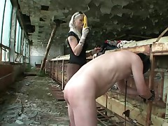 German misstress fucks slaves ass