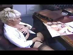 British lesbians in the office