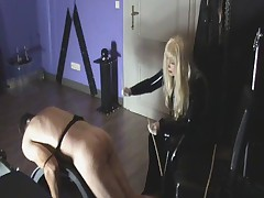Extreme German Femdom Caning Pt. 1