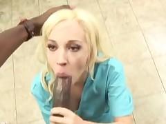 Nurse jada takes black cock sample