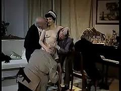 Maid serves 4 oldies (german)