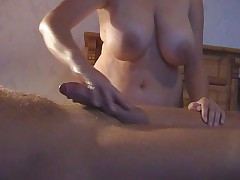 Busty German Handjob