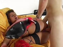 German woman gets fucked at a photo shoot