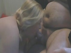 Mature BBW nurses on her hubby bear's cock