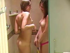 Sweet lesbos in the shower